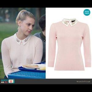 Ted Baker Helane embellished collar sweater